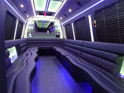 15-20 Passenger Party Bus for rental service in San Francisco & the Bay Area, Napa and Sonoma
